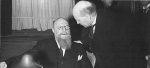 Statsminister Thorvald Stauning og udenrigsminister Peter Munch var den socialdemokratisk-radikale regerings to mest indflydelsesrige politikere.