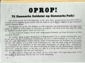 Det kendte Oprop der blev kastet ned over København 9. april 1940