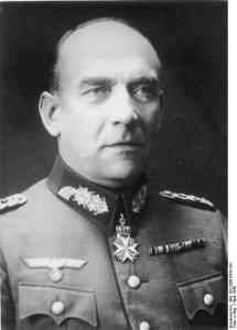 Nikolaus von Falkenhorst er nyudnævnt general for Tysklands kommende Norgesfeltog. Han er i dag blevet indkvarteret i Berlin. Fra Wikimedia Commons.