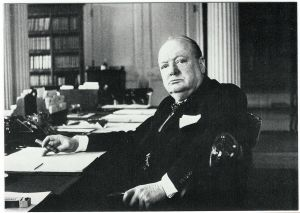 """Winston Churchill var manden bag den britisk aktion mod det tyske skib """"Altmark"""". Nu planlægger den britiske marineminister en ny aktion i norsk farvand Foto: Frihedsmuseets billedarkiv."""