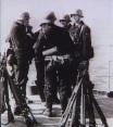 Tyske soldater på et skib ved Langelinie, København 9. april 1940. Fra Frihedsmuseets billedarkiv.