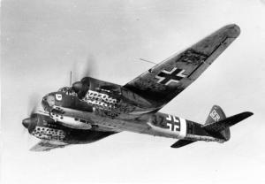 Det er vraget fra et hypermoderne Junkers Ju 88-bombefly, som i dag er fundet på Lolland efter en nødlanding. Fra Wikimedia Commons.